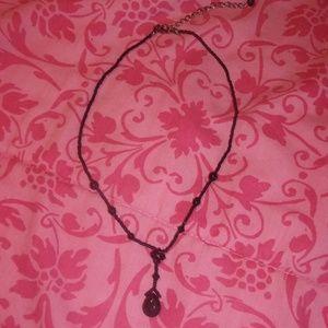 Jewelry - black tear drop beaded necklace womens